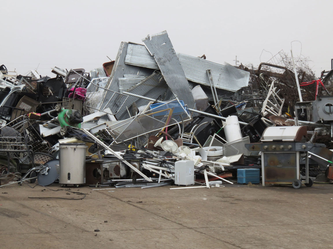 Scrap Metal Pile at The Cedar Rapids Linn County Solid Waste Agency