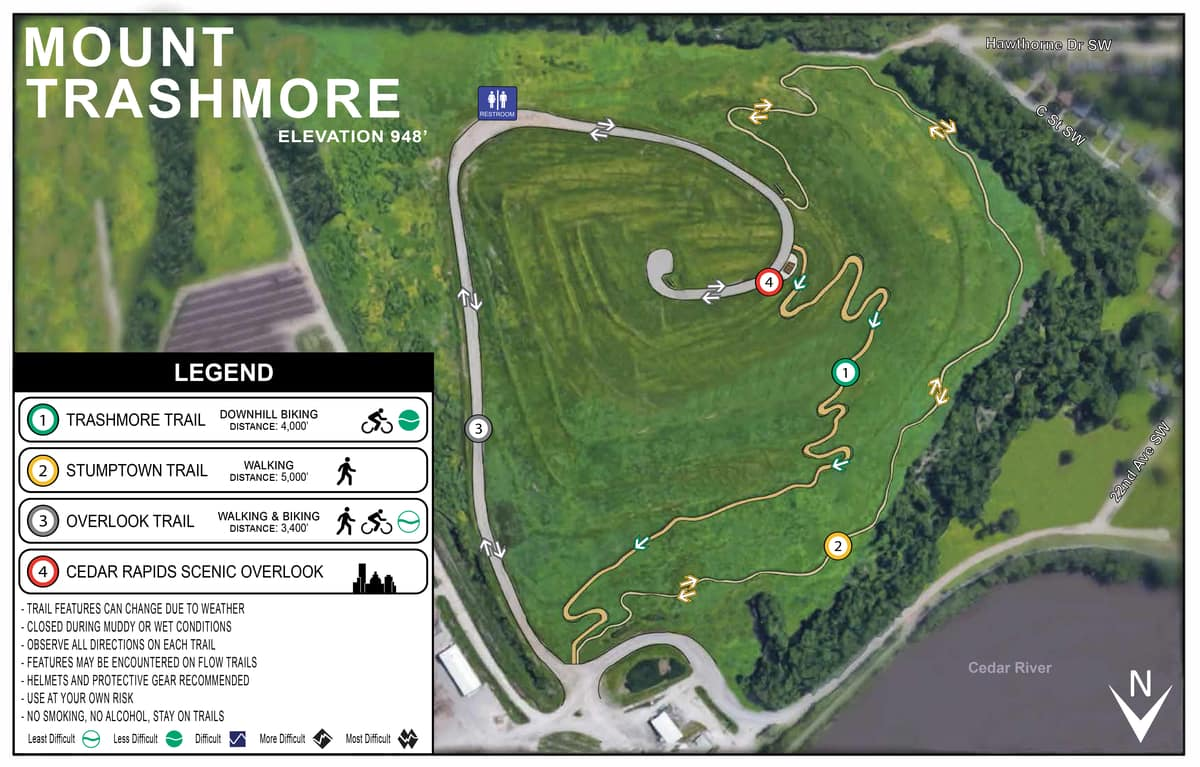 Trashmore Trail Map